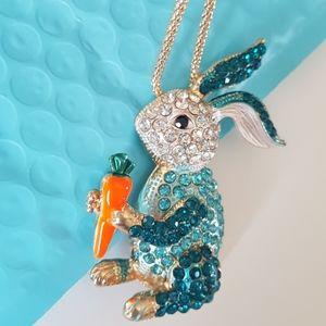 NEW BJ Necklace Rabbit Crystal Pendant